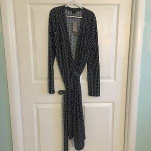LOFT Long Sleeve Wrap Dress